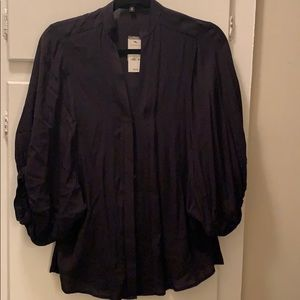 Express black button down shirt
